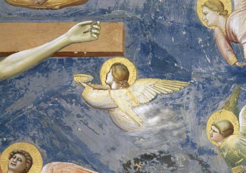 Giotto Crocifissione   Particolare degli Angeli Figurativo cm66X96 Immagine su CARTA TELA PANNELLO CORNICE Orizzontale