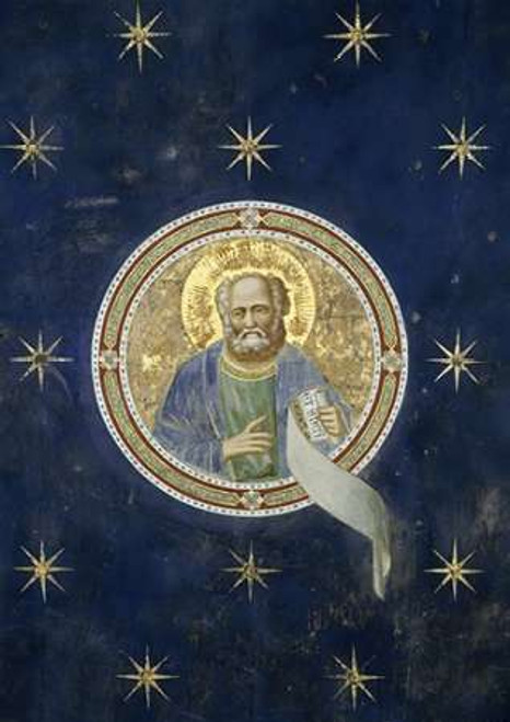 Giotto Profeta Malachia   Particolare del soffitto museo cm96X68 Immagine su CARTA TELA PANNELLO CORNICE Verticale