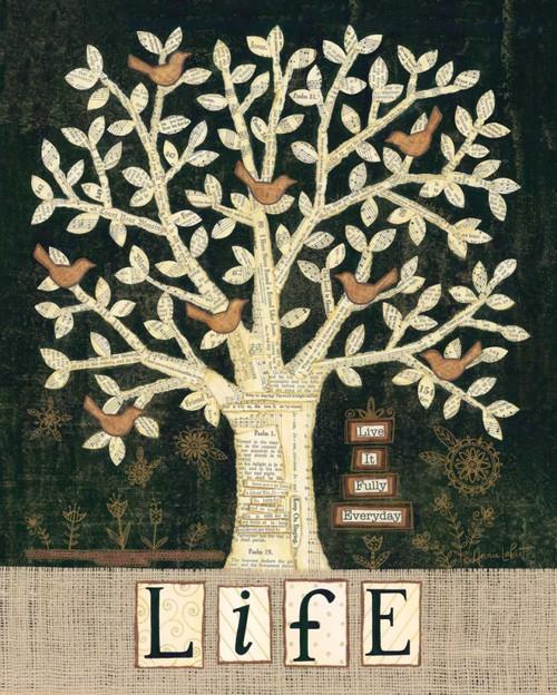 LaPoint Annie Albero della vita Inspirational cm91X73 Immagine su CARTA TELA PANNELLO CORNICE Verticale