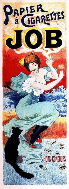 Cheret Jules A sigarette carta Animali cm182X66 Immagine su CARTA TELA PANNELLO CORNICE Verticale