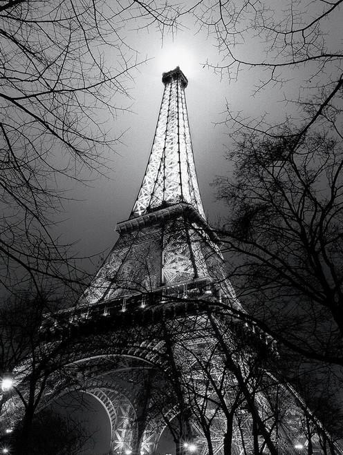 Carrara Antoine Sua Maestà La Tour Eiffel Nero bianco cm115X85 Immagine su CARTA TELA PANNELLO CORNICE Verticale