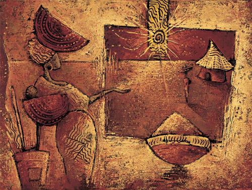 Vital Isabelle Il 5 ° scatola World Culture cm85X115 Immagine su CARTA TELA PANNELLO CORNICE Orizzontale