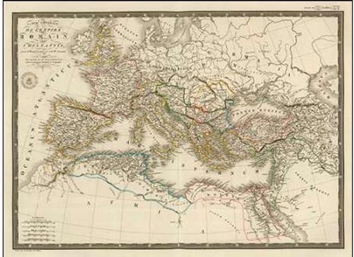 Brue Adrien Hubert Impero romano sotto Costantino, 1822 museo cm57x42 Immagine su tela intelaiata