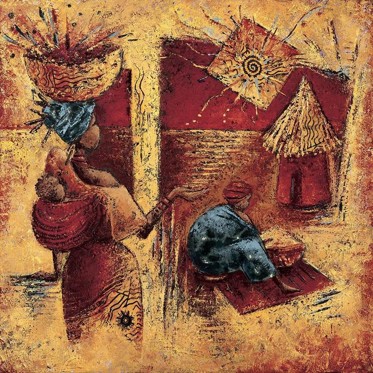 Vital Isabelle tocco leggero World Culture cm80X80 Immagine su CARTA TELA PANNELLO CORNICE Quadrata