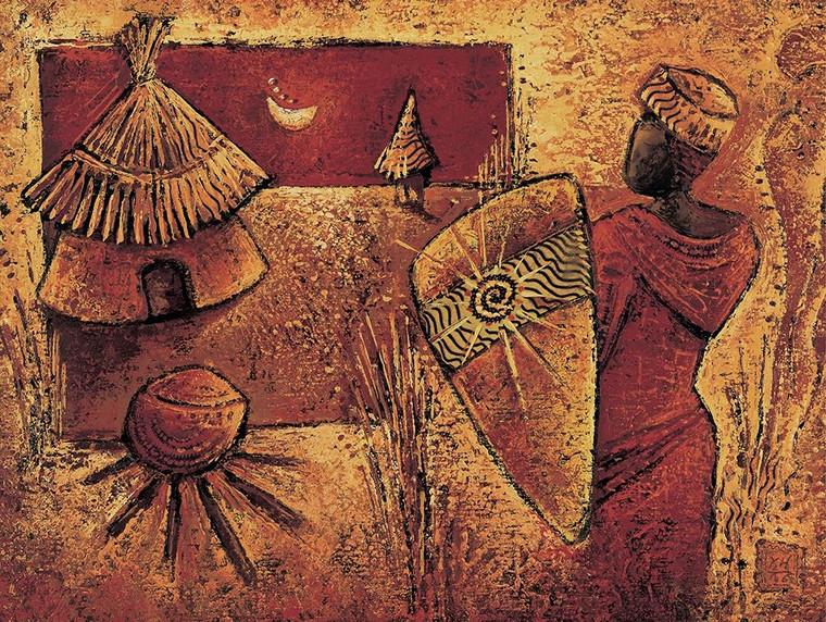Vital Isabelle Dall'altro lato World Culture cm85X115 Immagine su CARTA TELA PANNELLO CORNICE Orizzontale
