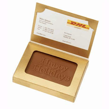 Chocolate Logo Business Cards