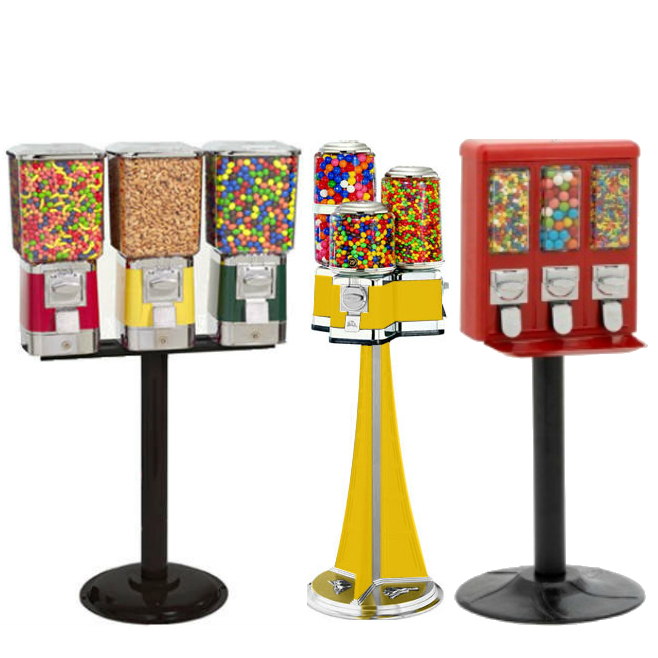 Triple Vend Gumball Machines