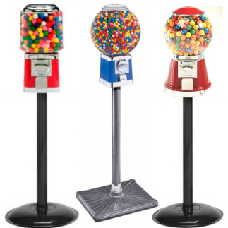 Gumball Machines w/ Stands