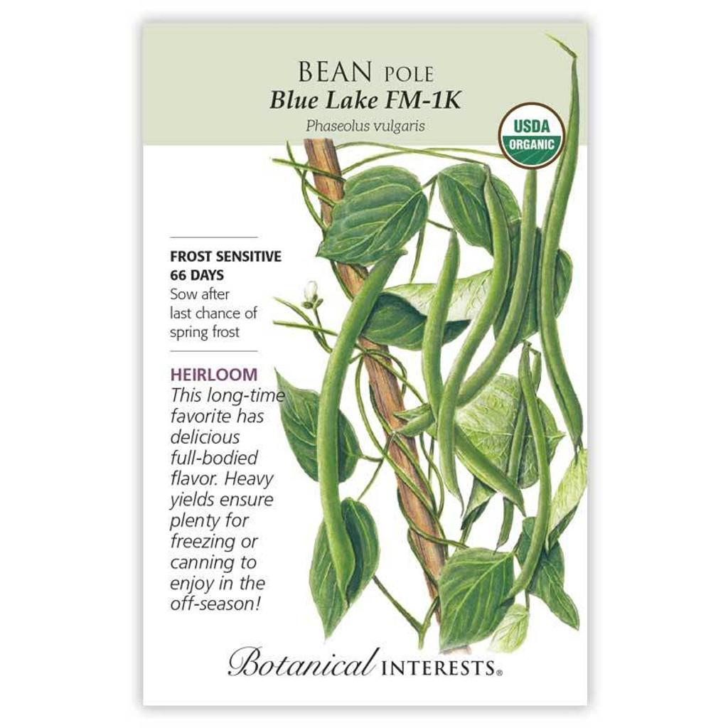 Bean Pole Blue Lake FM-1K Organic