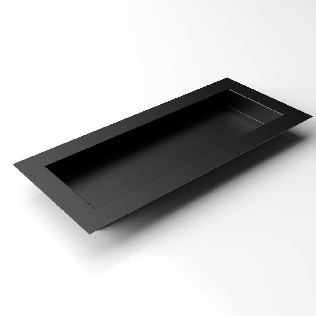 """Veradek Geo Flat Planter Black or Stainless Steel 32"""""""
