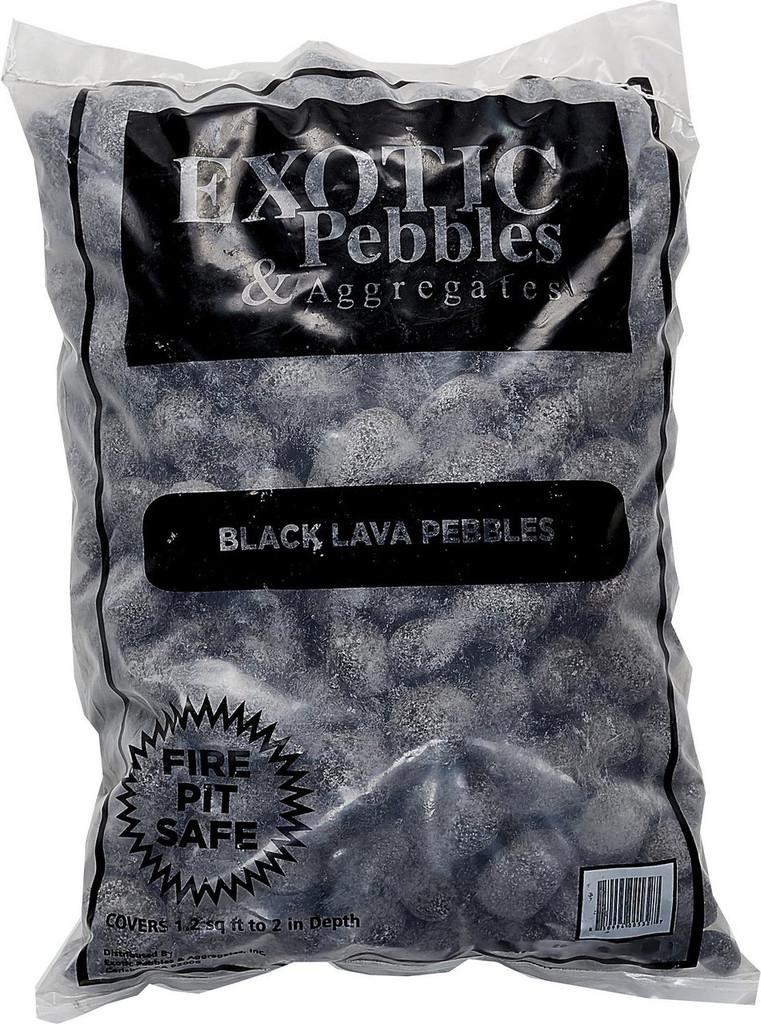 Exotic Pebbles Polished Black Lava