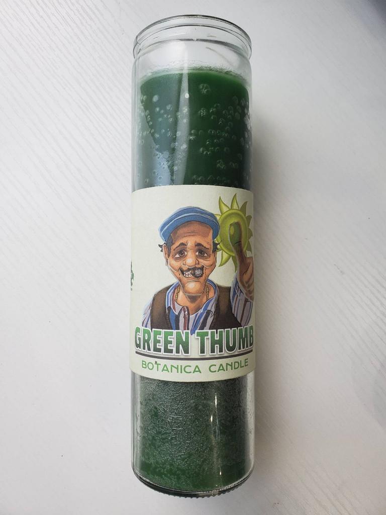 "Green Thumb Botanica Candle 8"""