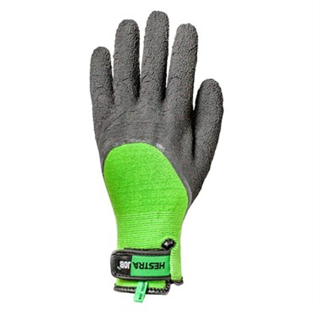 Glove Hestra Job Bamboo Latex Green/Black Gloves