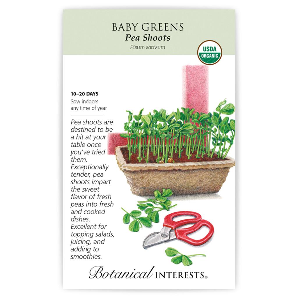Baby Greens Pea Shoots Organic