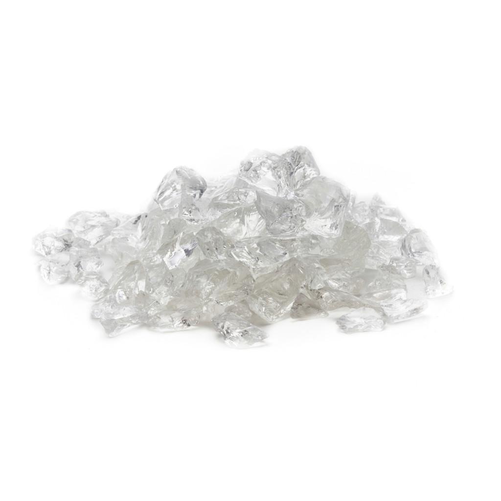 Exotic Pebbles Glass Pebbles Ice Clear 2lb Bag