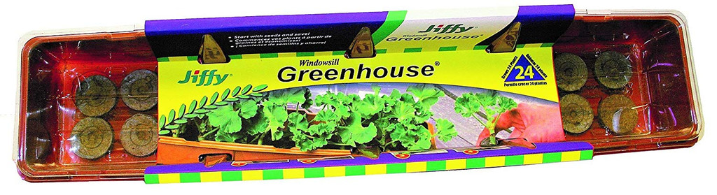 Jiffy Windowsill Greenhouse Stackable 24 Cells - 36mm Pellets
