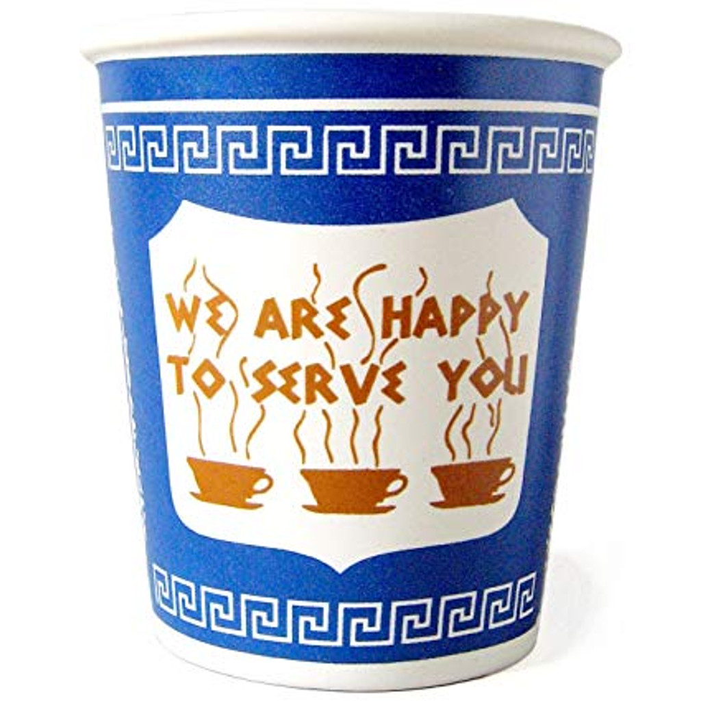 Greek Diner Ceramic Coffee Cup