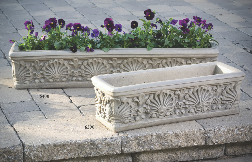 "Shell Box Planter 25"" and 39.5"""