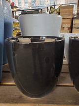 "Ceramic Black Glossy Pot 9"" 10"" 12"""