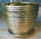 "Ceramic Gold-Line Pot 6"" 7"" 9"""