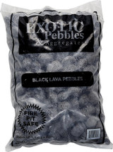 Exotic Pebbles Polished Black Lava 2lb 5lb 20lb