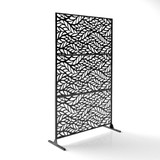 "Veradek Privacy Screen Flowleaf Design Set 76"" Height"