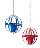 Hanging Iron Orb Planter 29""