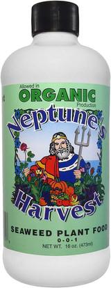 Neptune's Harvest Organic Seaweed Plant Food 0-0-1 16oz or 144oz