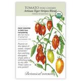 Tomato Pole Artisan Tiger Stripes Blend Pole Cherry Tomato Seeds Organic