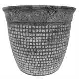 Planter Mosaic Concrete Grey and Brown 14""