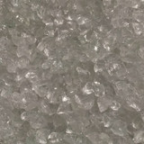 Exotic Pebbles Glass Pebbles Ice Clear 2lb Bag
