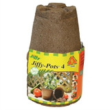"Jiffy 4"" Round Peat Pots Pack of 6"