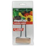 "Luster Leaf Copper or Zinc Plant Labels 6"" 4 Pack"