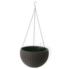 Algreen Hanging Basket Rattan Mocha