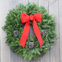 Balsam Wreath, Decorated