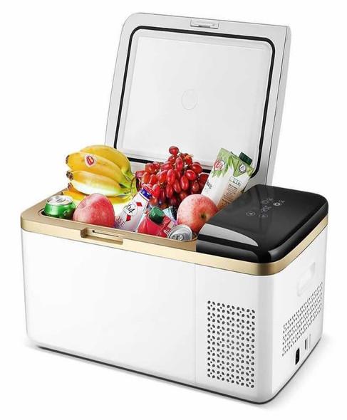 Sunolar SooCold Portable Travel Fridge 19 & 30 Quart, Mini-Fridge, Refrigerator, Freezer, for Car, Auto, Truck, Boat, Trailer, RV, Beach, Picnic, Camping with 12v-24vDC and 110vAC Power Adapters