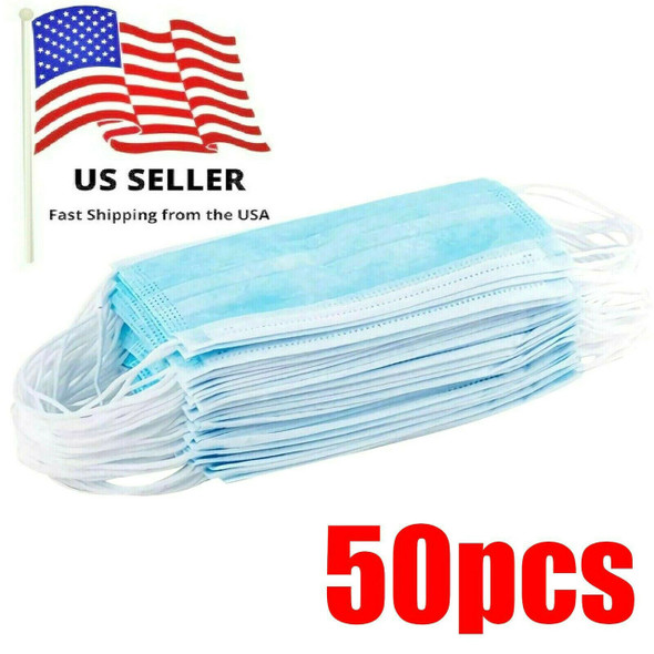 Face Masks, Surgical Style, Box of 50 Masks, <$0.50 Each