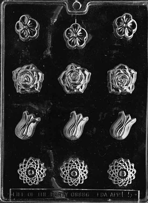 LOTP Assorted Flowers Chocolate Mold F005