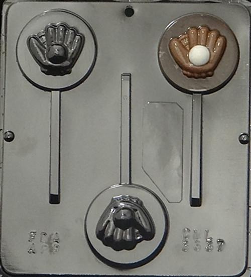 CML Baseball and Glove Pop Chocolate Mold 3337