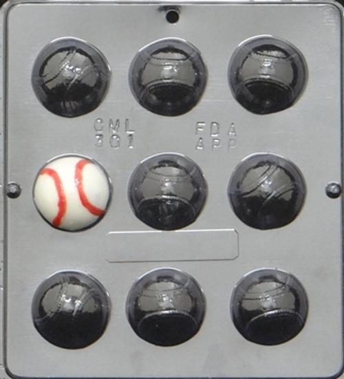 CML Baseballs Chocolate Mold 301