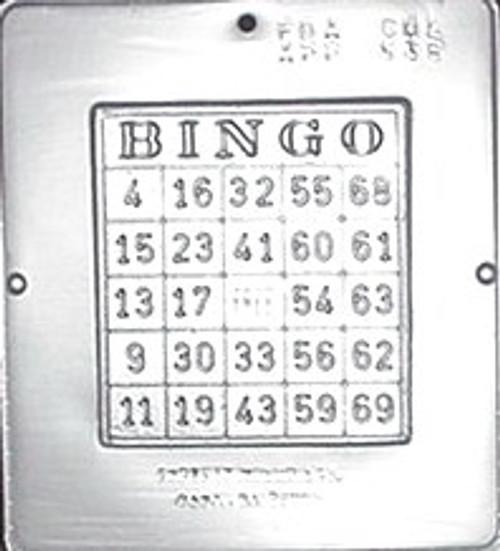 CML Bingo Card Chocolate Mold 538