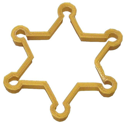 OTBP Plastic Sheriff Badge Cookie Cutter PC0168