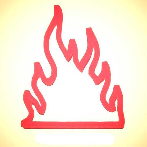 OTBP Plastic Fire Flames Cookie Cutter PC0199