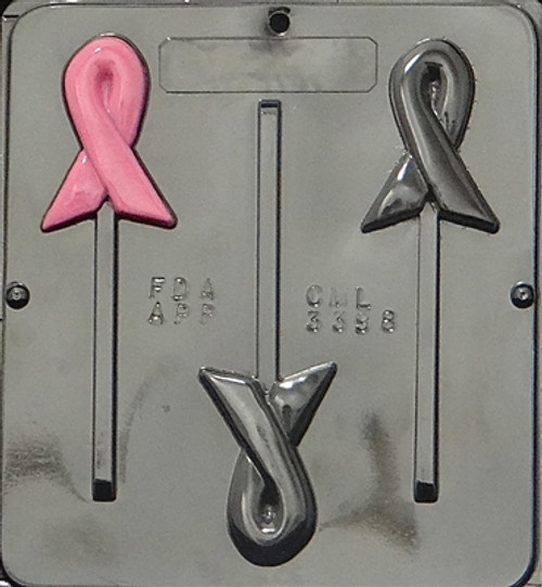 CML Awareness Ribbon Pop Chocolate Mold 3398