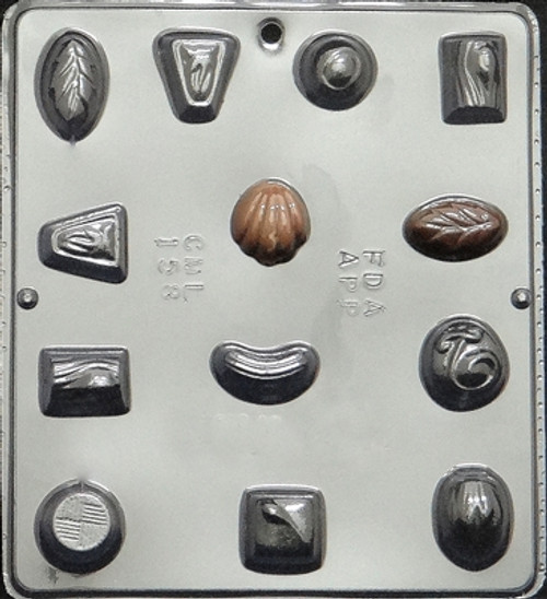 CML Candy Pieces Variety Chocolate Mold 158