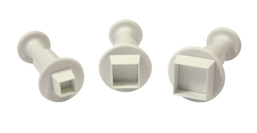 PME 3pc Square Fondant Plunger Cutter Set MS152