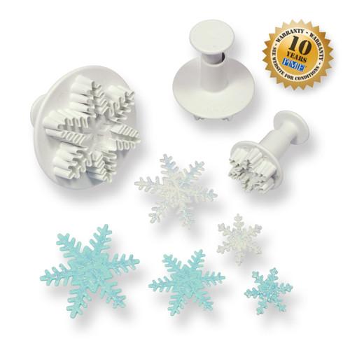 PME 3pc Snowflake Fondant Plunger Cutter Set SF708