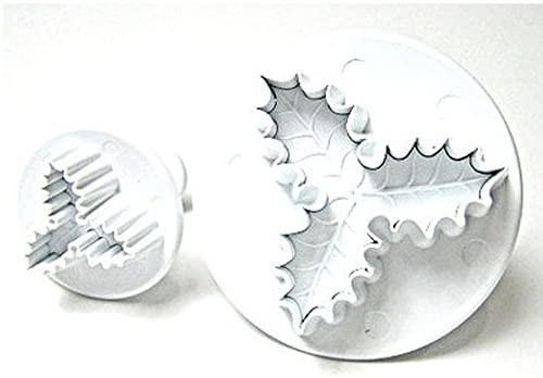 PME 2pc Three Leaf Holly Fondant Cutter Set HS636