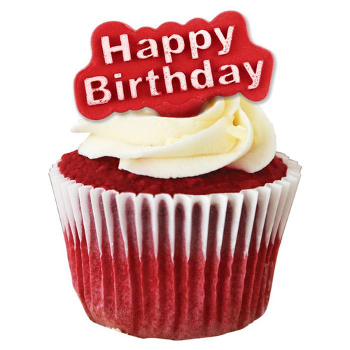 PME 2pc Happy Birthday Fondant Plunger Cutter HB503