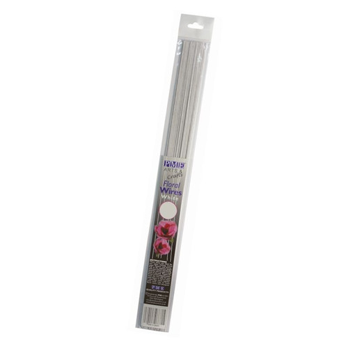 PME 50ct White 22 Gauge Foral Wire FW122